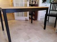 IKEA TABLE AND 4 CHAIIRS