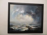 Original Framed Large Oil Painting by Rocks Brothers Chris Steve