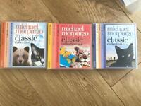 REDUCED 3 box sets of Michael morpurgo audiobook CDs 11 stories