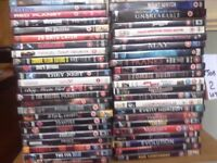 50 DVDs for sale.