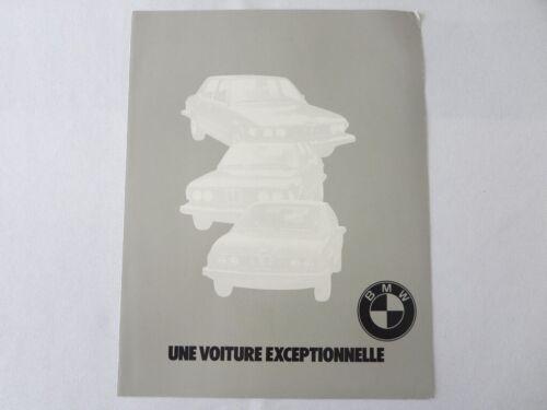 Vintage BMW Sales Brochure Catalog - 630 CSi 320i 530i Automatic + FRENCH TEXT