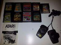 9 ATARI 2600 GAMES AND PADDLE CONTROLLERS