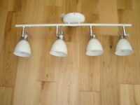 LIGHT FITTING AND LED BULBS ALMOST NEW