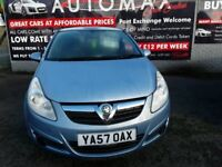 08/57 VAUXHALL CORSA 1LTR LIFE 3 DR 57K WITH A/C