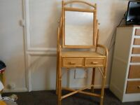LOVELY WICKER / CANE DRESSING TABLE.