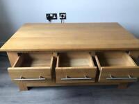 Oak furniture land rivermead solid oak coffee table