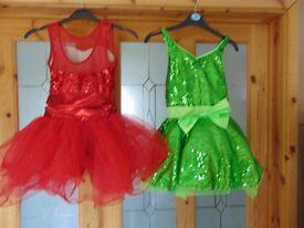 Weissman Dance Costumes x 2 size MC = 10 - 12yrs