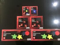 Indoor LED/ Lights/Decorations (stars and hearts) 6 boxes. Look good all year round.