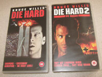 VHS Die Hard & Die Hard 2, Video Cassettes, 80s Action Film, Bruce Willis