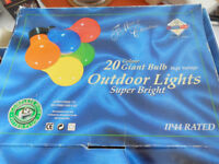 String of 20 Garden/Outdoor Lights with 18 Spare Bulbs