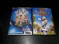 Settlers x2 pc games set like new
