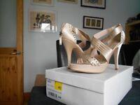 Debenhams Diamond Satin high wedding collection sandals