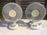 Electric fans , almost new