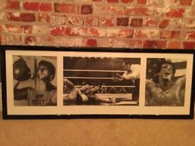 Rocky Balboa B&W framed print