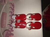 *pending collection* Red patent crib shoes x2