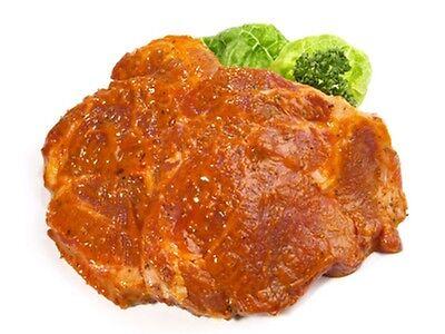 lecker marinierte Grillsteaks (Nackensteaks) 2,0kg.gutes Fleisch vom Landmetzger