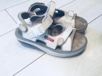 MBT Kisumu White Leather Training Toning Fitness Sandals Size 7 Uk