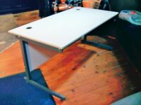 DESK OR TABLE FOR OFFICE OR HOME USE. STRONG, HEAT AND STAIN RESISTANT. WILL WITHSTAND HEAVY WEIGHT.