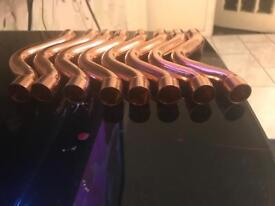 8 x cross over copper pipes