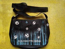 A Nightmare before Christmas Black Denim and Leather handbag - £12 ono
