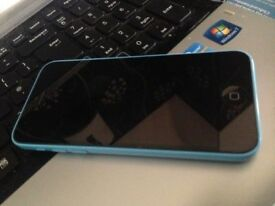Apple iPhone 5c blue can unlocked open any network 02 o2 giff gaff tesco