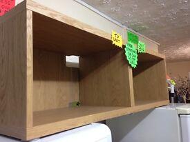 Oak tv unit/wall mount/ or floor standing..