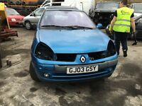 2003 RENAULT CLIO DYNAMIQUE DCI (MANUAL DIESEL)- FOR PARTS ONLY