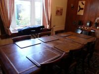 Antique Victorian Mahogany Large Dining Table Seats 6 to 8