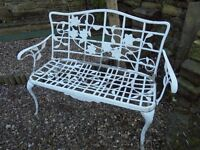 A White Metal Garden Patio Chair.(John Lewis)