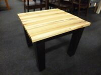 Furniture Mill sale RECLAIMED WOOD AND BLACK METAL HALL TABLE/LAMP TABLE Furniture Mill Sale