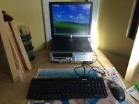 Compaq Desktop & Monitor & Keyboard & Mouse & Printer