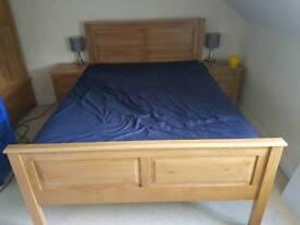 ***HALF PRICE*** Solid oak double bed & mattress