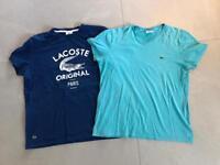 2 x Lacoste Tshirts
