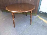 Dark Wood Round Table Delivery Available