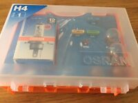 New and boxed Osram car bulb and fuse set H4 Type 1