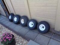 Golf Buggy wheels and Tyres x 5