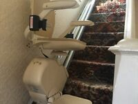 Brooks Superglide 130 MK 11 straight stairlift -left hand wall fit.