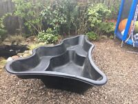 Large plastic pond bought from dobbies