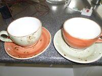 Steelite cups, mugs and saucers