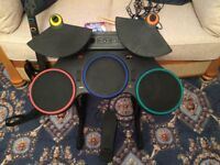 PS3 Guitar Hero World Tour Game and Drums/Guitar/Microphone