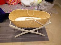 New unused moses basket and stand