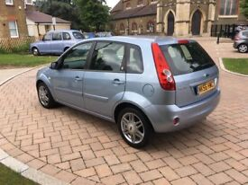 56 PLATE FORD FIESTA GHIA 1.4 BLUE HATCHBACK EXCELLENT CONDITION