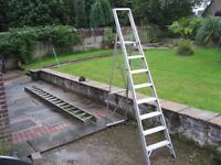 Aluminium Ladders and Large Step Ladders .....Excellent Condition