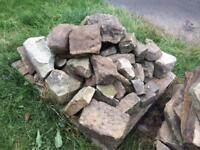 Sandstone rockery stones