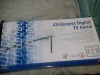 43 element digital tv aerial