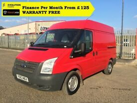 Ford Transit 2.2 280 High Roof/ AIR CON, Cruise Control,125BHP, 1 Owner, S. History,1YR MOT,Warranty