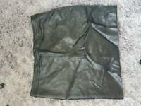 H&M leather look skirt size 10