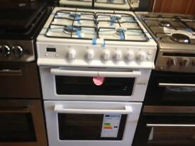 White 60cm gas cooker
