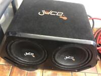 Car speaker Sub woofer juice 2000w! and built in amp RRP £200