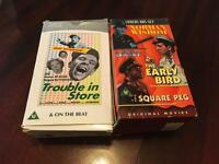 Collection of Norman Wisdom VHS videos